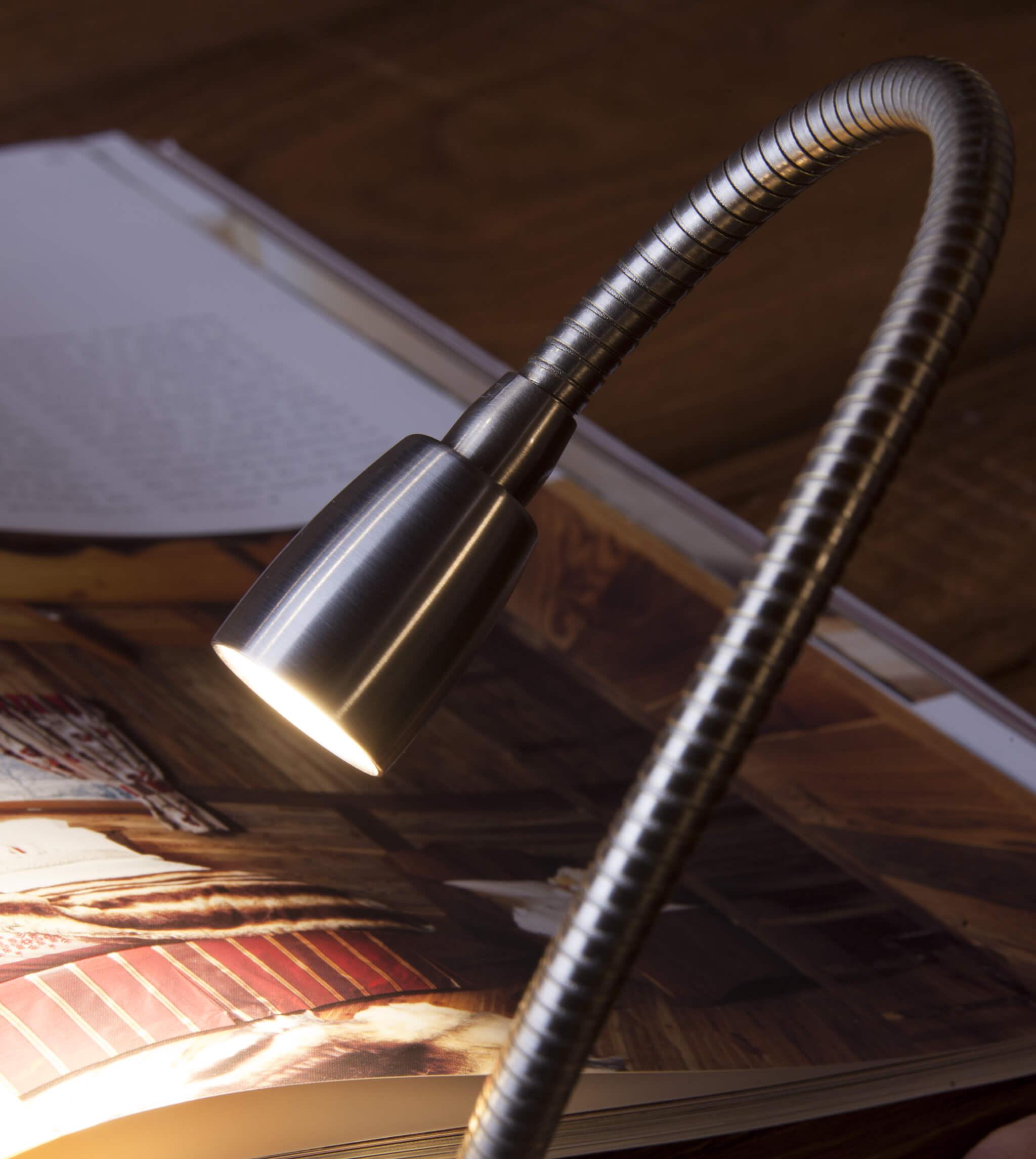 Lampada da lettura luce led tulip di brillamenti for Lampada da lettura