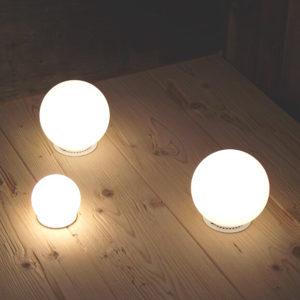 Lampada led di design artigianale zbowl di brillamenti - Lampada da tavolo artigianale ...