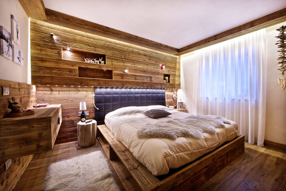 Illuminare la camera da letto matrimoniale barre led brillamenti - Letto matrimoniale led ...