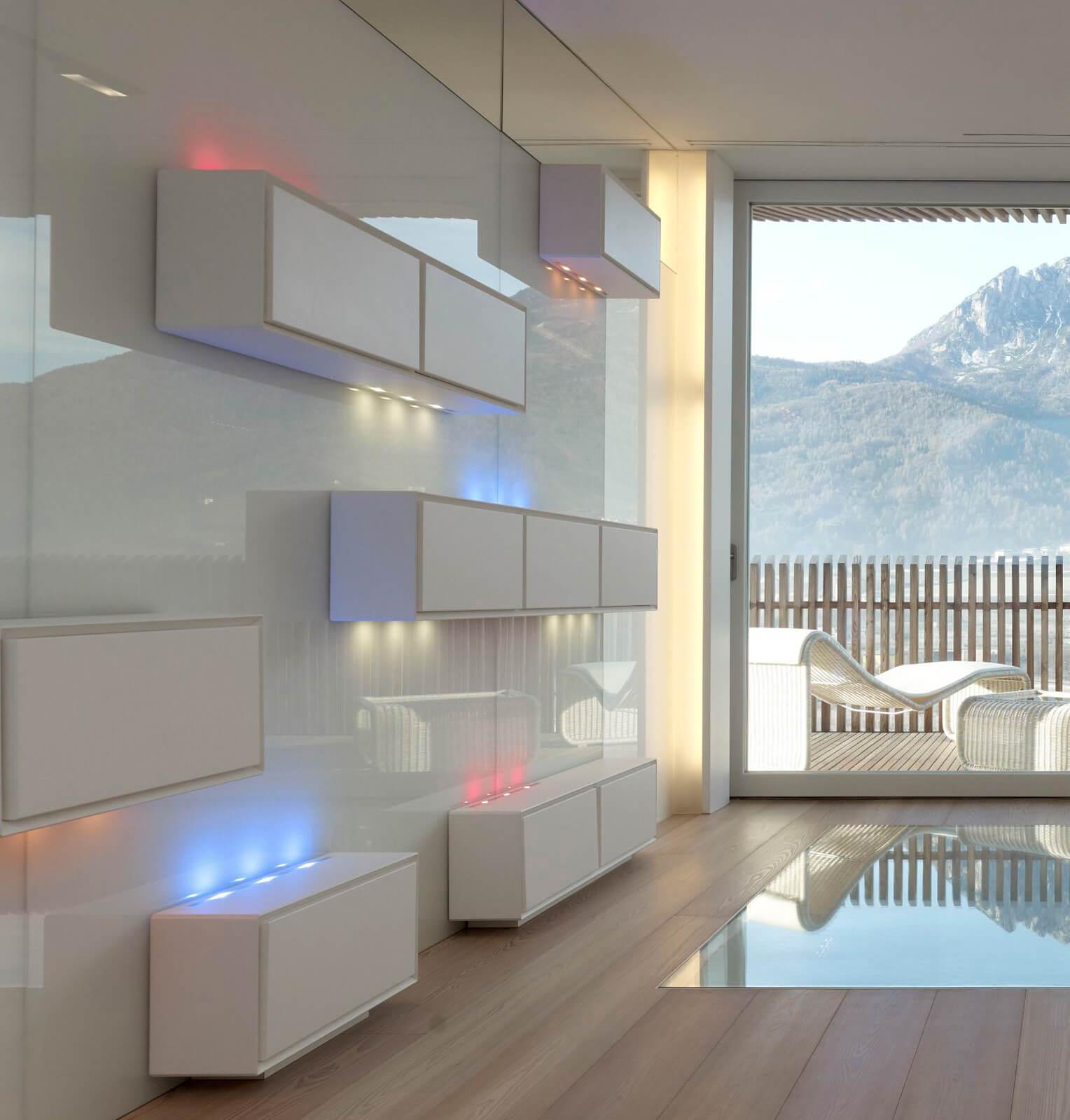 Illuminazione led soggiorno residenza privata brillamenti - Illuminazione led soggiorno ...
