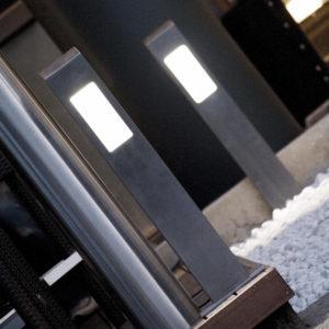 Paletto luminoso a led in acciaio inox